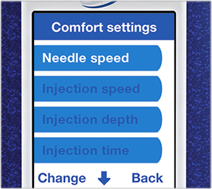 Adjustable comfort settings